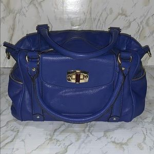 Target Merona blue satchel hand bag